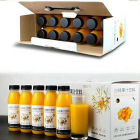 【年货伴手礼】有机沙棘果汁300ml*12瓶/礼箱
