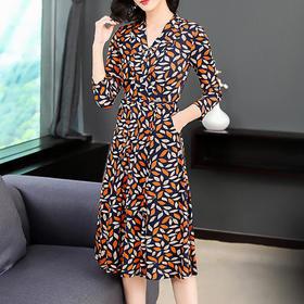 GN8008NK气质优雅印花连衣裙