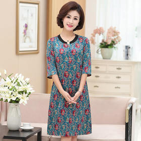 ECY3972时尚宽松印花连衣裙