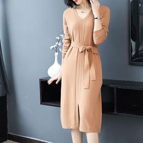 AHM95571aryg时尚休闲纯色连衣裙