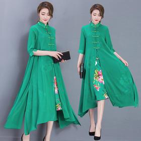 AHM96563hdf时尚民族风雪纺连衣裙