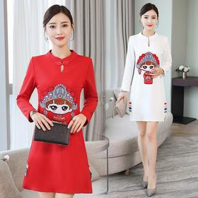 GN3091JL时尚中国风改良连衣裙