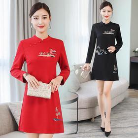 GN3090JL中国风时尚气质连衣裙