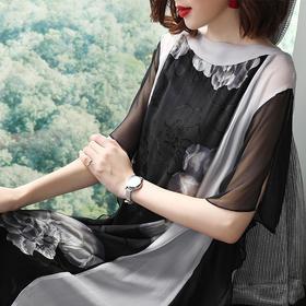 SMHC18143印花宽松气质连衣裙