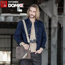 美国DOMKE杜马克 F5XZ摄影包单反相机包复古蜡布单肩休闲包通勤包