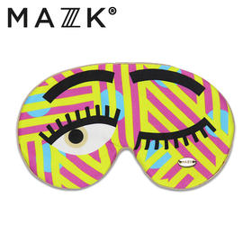 【MAZZZK】真丝天然眼罩|可佩带香薰冰片|俏皮大眼睛|时尚girl的美梦伴侣