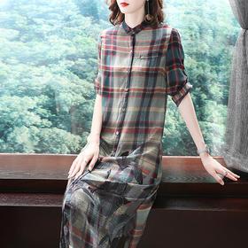 SMHC18233中国风印花宽松连衣裙