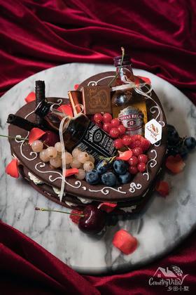 巧克力威士忌甜品果篮
