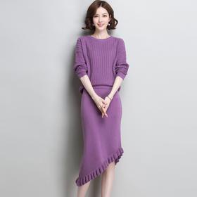 SHJS412-5880时尚宽松纯色套装