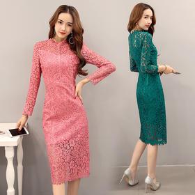 AN1808BBL时尚优雅气质修身连衣裙