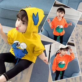 【寒冰紫雨】 可爱上衣服童装连帽卫衣外套  女款秋季卡通动漫套头  AAA5802