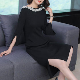 AHM50204ym淑女气质针织连衣裙