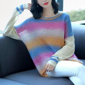 SHJS211-18105渐变色针织马海毛衣