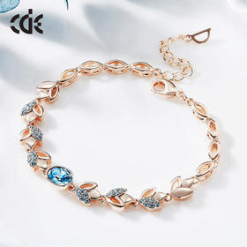 XDR0979B爆款施华洛世奇元素水晶玫瑰金手链