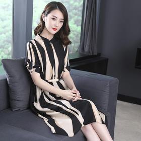 GN6859PJ时尚优雅条纹连衣裙