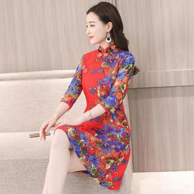 GN7208NI蕾丝印花修身连衣裙