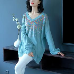 SHJS211-18177-1时尚马海毛针织毛衣