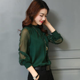 AN2975JQYR时尚气质雪纺衬衫