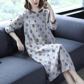 AHM50224ym时尚休闲棉麻连衣裙
