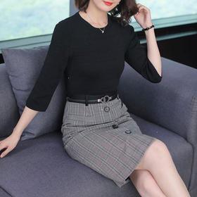AHM50114ym修身气质针织连衣裙