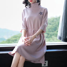 SHJS428-1813纯色针织毛衣连衣裙