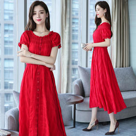 CQ80803zmfs百搭优雅纯色连衣裙