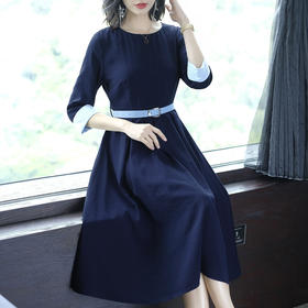 AHM50104ym气质修身纯色连衣裙