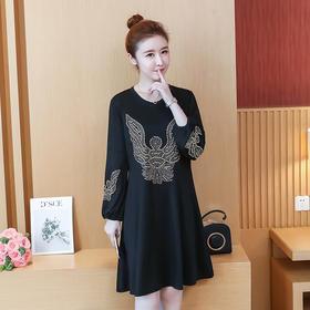 YPY12307时尚气质烫钻连衣裙