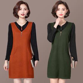 MQ1776901气质舒适针织连衣裙