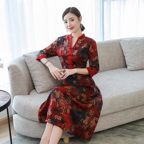 GN7081PE时尚气质印花连衣裙