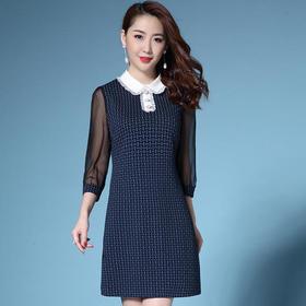 SL4836Q时尚气质网纱连衣裙