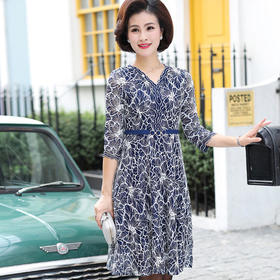 XKNH18131BV时尚减龄休闲连衣裙