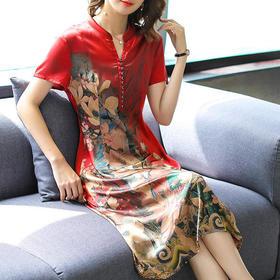 GN6911NP气质复古风优雅连衣裙