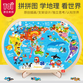 TOI大世界益智拼图  让宝宝独立思考 畅游世界