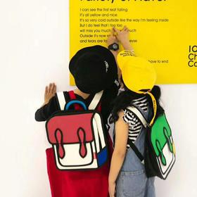 【可以当画板的二次元小书包】英国mobee儿童二次元书包 男女孩幼儿园双肩背包