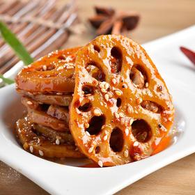 【下饭好菜】四川特产 麻辣素食开胃菜香辣藕片休闲零食小吃(2个装240g)