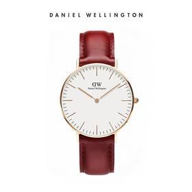 【香港直邮】Danielwellington丹尼尔惠灵顿新品红色皮带DW女手表简约学生手表40mm