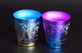 日本HORIE进口钛杯子 纯钛水杯 咖啡泡茶 唯美结婚礼物250ml 情侣对杯