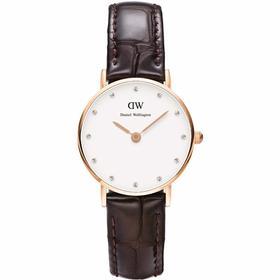 【香港直邮】Daniel Wellington丹尼尔·惠灵顿 YORK系列女士皮带手表 0902DW(DW00100061)
