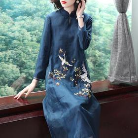 SMHC18478-1中国风绣花气质连衣裙