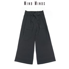 MINDMINDS 黑条纹纸袋裤