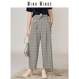 MINDMINDS 格子纸袋裤