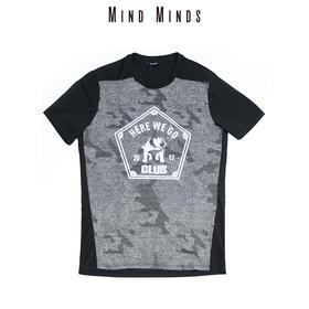 MINDMINDS 运动T恤户外夜跑反光图案印花吸湿排汗透气短袖