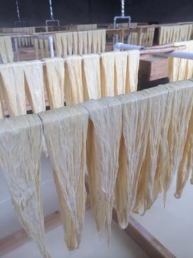 唯食农场 自留种黄豆腐竹 小黄姜  柴火传统方式制作 无添加剂