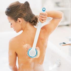 【不发霉、不掉毛、10秒速干、360°亲肤、可用10年】乐浴液体硅胶沐浴刷,可以按摩的沐浴刷