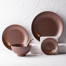 日式和风厨房餐具 庆和系列陶瓷餐盘餐碟餐碗饭碗调羹