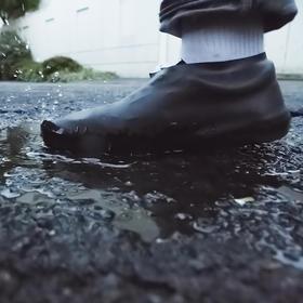 日本进口运动鞋防雨套 皮鞋防滑防水套 防尘套 雨天脚套 美观耐磨