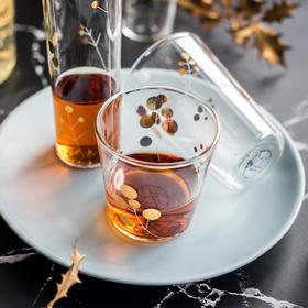 摩登主妇 创意金点玻璃杯家用玻璃杯子酒杯啤酒杯洋酒杯威士忌杯