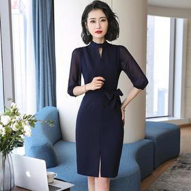 【明净素雅】早秋新款韩版OL,通勤风显瘦包臀裙XZ-8098