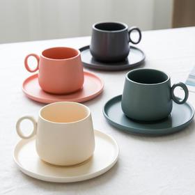 摩登主妇 欧式哑光陶瓷咖啡杯碟套装水杯马克杯办公室下午茶杯子